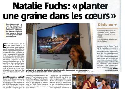 Mai 2016 - Nice Matin - Nathalie Fuchs