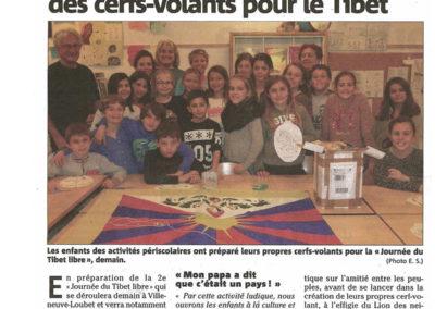 Mars 2016 - Nice Matin - Les-enfants de Villeneuve céent des cerfs volants pour le Tibet